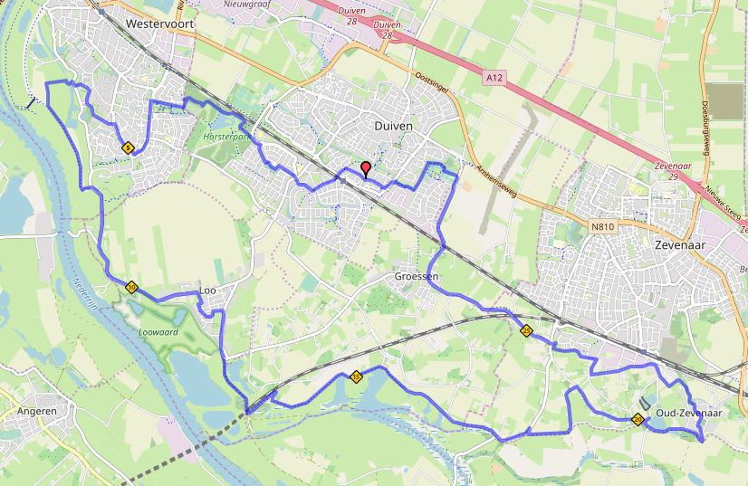 Liemers Posbankloop 80 kilometer nachtroute